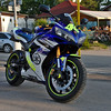 Yamaha YZF-R1 (Debarshi Ray) Tags: czech brno blue green white fluorescent summer canon canoneos70d tamron tamronaf18270mmf3563 yamaha yzfr1 motorbike motorcycles supersport vehicle bystrc tyre black city