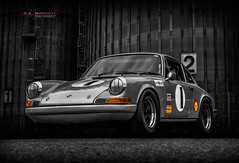 """the old one two punch"" (Neil Banich Photography) Tags: neilbanichphotograhy 1969prsche911 911 porsche racecar automotivephotography silver"
