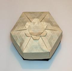 34-Teardrop twist ring flower (mganans) Tags: origami tessellation box caja