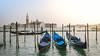 Resting Gondolas (André Moecke) Tags: gondolas sunset veneza venezia venice italy italia boats river
