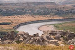 Writing-On-Stone 1 (Kasia Sokulska (KasiaBasic)) Tags: fujix canada alberta south writingonstone rock formations landscape travel hoodoos summer river valley
