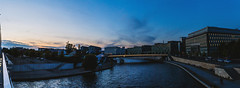 Reichstagufer (Kovah.de) Tags: berlin germany city citylife street streetlife urban urbanexplorer urbanexploration blue bluehour architecture building buildings sky skyline clouds cloudscape panorama reichstagsufer water waterscape bridge