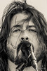 Dave Grohl (Kathleen Jennette) Tags: davegrohl foofighters loveride32 rockroll music singers rockband leadvocalist sepia creamtone monotone