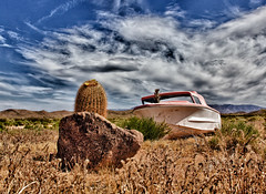 All Aboard (cindyslater) Tags: hdr landscape desert rock cloads sky boat cindyslater cautus arizona az usa
