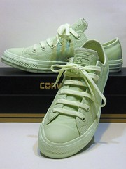 Pastel Leather - Pistachio Green Ox 153009C (hadley78) Tags: converse cons collection chucks chucktaylors ct chuck taylor taylors tops top thatconverseguy guinness worldrecord world record ripleys joshuamueller pastel leather