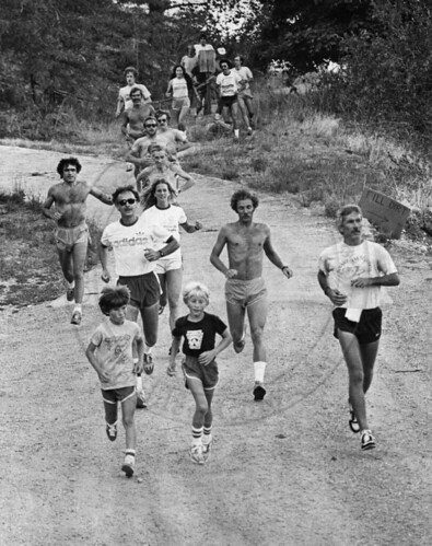 Photo - Runners on the Dakota Ridge Trail (1980).