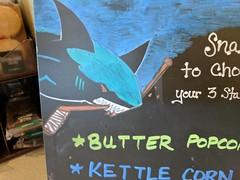 October 5: Shark Chalk (earthdog) Tags: 2017 googlepixel pixel androidapp moblog cameraphone chalk chalkboard shopping store safeway starbucks project365 3652017 shark animal sharks nhl logo