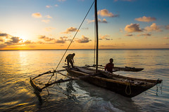 Fisherman's Boat of Zanzibar (Beppe Rijs) Tags: africa afrka insel island sansibar tansania tanzania dusk sundown sun light people fisherman zanzibar sea fishing night boat color