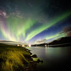 Aurora borealis in Iceland (Zeeyolq Photography) Tags: night landscape auroraborealis nature water sky northernlight islande iceland vesturland
