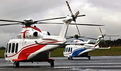 M-SHRM & DU-142 AGUSTA WESTLAND AW-139 NEWCASTLE (toowoomba surfer) Tags: helicopter aviation ncl egnt