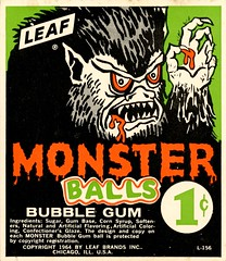 Monster Balls (grooveisintheart) Tags: gum gumball vending machine cards vendingmachinecards gumballmachinecards vintage ephemera 1960s 1970s groovy mod typography graphicdesign illustration vintagefood vintagecandy vintagegum vintageadvertising