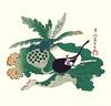Sacred lotus and eggplant (Japanese Flower and Bird Art) Tags: flower sacred lotus nelumbo nucifera nelumbonaceae eggplant solanum melongena solanaceae getsuzan ogata nihonga woodblock print japan japanese art readercollection