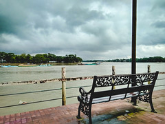 RiverView, Sunamgonj (N i B i R) Tags: sunamganj sylhetdivision bangladesh bd sky chari bench river water blue xiaomi redmi