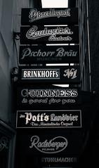 Beer, beer, beer... (sergiogomezb21) Tags: rótulo texto beer cerveza bier pilsnerurquell budweiser pschorrbräu brinkhoffs guinness pottslandbier black white picoftheday germany münster deutschland alemania label text radeberger pils pilsner munchen number 1º 1 first alley