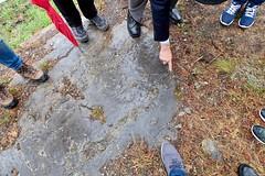 Geology tour around campus with Jim Olver, Customer Service at Banff Centre for Arts & Creativity (latitudes-flickr) Tags: geologictime banff banffcentreforartsandcreativity alberta canada seminar thinkingwithgeology 4543billion fieldtrip curatorialresearch curatorialresidency justyphillipsandmargaretwoodward apublishedevent semâbekirovic caitlinchaisson beckyforsythe chloehodge shanekrepakevich carolineloewen penelopesmart camilasposati latitudes maxandrews marianacánepaluna seanlynch pauldflecklibraryarchives banffinternationalcuratorialinstitutebici deeptime geography trilobites banffnationalpark kootenaynationalpark bengadd whytemuseum bankhead lakeminnewanka