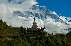 Lhotse (Kramskorner) Tags: mount everest base camp 2017 katmandu mountains himalayas pumori ama dablam snow capped peaks summit trek trekking hiking high altitude sony a7ii 24240mm landscape sunrise bw stupa prayer flags