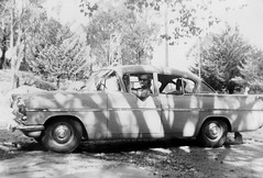 Car with shadows (Boobook48) Tags: foundphoto car shadow australia vauxhall cresta