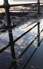 Fallen Sky (Mono Spectrum) Tags: reflextion sea wiseman'sbridge rain sly