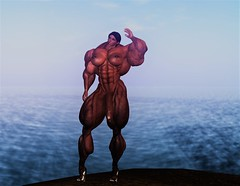 Standing Large and In Charge (Ms Soul) Tags: naked bigcock abs muscularwoman muscular muscle shemale lelutkahead largebiceps posing thicklegs sexyfreak sexy stunning showingoff strength beautiful beach