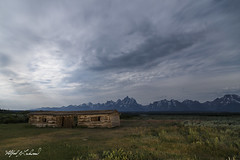 Cunningham's Cabin_T3W0266 (Alfred J. Lockwood Photography) Tags: alfredjlockwood nature landscape cunninghamcabin cunninghamscabin clouds nightsky nightscape moonlight lightpainting grandtetonnationalpark rockymountains meadow summer wyoming