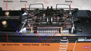 MTH CMStP&P E75 roof detail