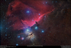 The Horsehead and The Flame Nebulae in RGB and with H Alpha (Terry Hancock www.downunderobservatory.com) Tags: qhy qhy367c universetoday sky cosmos astrophotography astroimaging