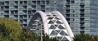 Humber River Arch Bridge, Montgomery Sisam Architects, 1994 - Mimico, Toronto.