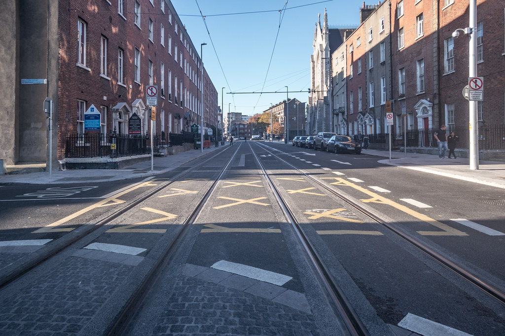DOMINICK STREET BOTH SIDES OF THE TRACKS [THE NEW LUAS TRAM LINE]-133620