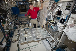 On the Space Station we often act as space mechanics