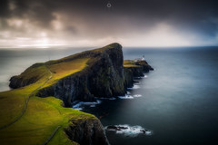 Coastal Sentry (Augmented Reality Images (Getty Contributor)) Tags: hebrides lighthouse isleofskye scotland storm neistpoint cliffs water island waves leefilters canon rocks longexposure clouds unitedkingdom gb
