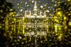 Vienna Town Hall (CoolMcFlash) Tags: townhall architecture building fujifilm xt2 vienna austria night rain waterdrops drops wet illuminated rathaus wien architektur gebäude fuji österreich nacht regen wassertropfen beleuchtet light fotografie photography wiener reflection spiegelung puddle pfütze water wasser city stadt longexposure langzeitbelichtung wetter weather xf 1024mm f4 r ois raindrops