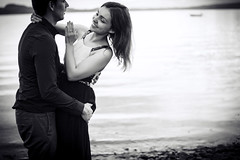 young love (mrs_fedorchuk) Tags: young love couple husband wife married family portrait bw black white mayaizabellaphoto lade trondheim norway