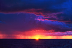 Natural Purple Color Sunset Or Sunrise Sky Over Stormy Rainy Sea (Sergey_pro) Tags: rain beautiful clear color copyspace eurasia europe horizon hot landscape light line natural nature nobody ocean orange outdoor over pink purple bright red scene sea storm stormy seascape shine sky still summer sun sunlight sunny sunrise sunset tourism tranquil travel vacation water weather yellow