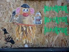 Montreal 2017 (bella.m) Tags: graffiti streetart urbanart montreal canada art wheatpaste pasteup stencil pochoir poutine mrpotatohead