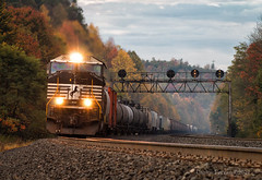 M6N - Lilly, PA (Wheelnrail) Tags: ns norfolk southern emd sd70m locomotive rail road railroads rails pittsburgh line pitt pennsylvania freight train trains prr signals fall autumn color central mountain grade morning