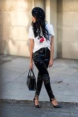 Itzel Marquez in vinyl pants (Vinyl Beauties) Tags: itzel marquez vinyl pvc plastic pants fashion beauty style glamour sexy model polyvinylchloride thermoplastic schönheit mode lack plastik hose lackhose topshop