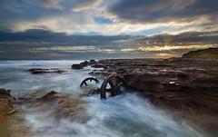 Wheel Sets || Windang Island (David Marriott - Sydney) Tags: lakeillawarra newsouthwales australia au bogie windang island train truck set rust wheel dawn sunrise
