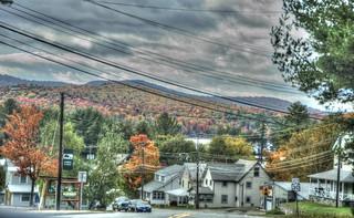 One Adirondack Fall Day 37 A Look Backward Over Long Lake NY