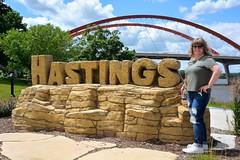Summer 2017 Hastings Minnesota (rabidscottsman) Tags: scotthendersonphotography portrait mn hastingsminnesota minnesota mississippiriver park citypark woman bridge dakotacountyminnesota nikon nikond7100 d7100 tamron tamron18270 18270 rockwall sidewalk travel tourism socialmedia usa unitedstatesofamerica