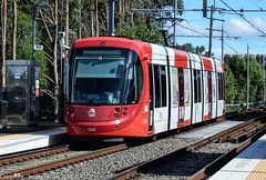 Sydney Light Rail - LRV2112 departs Marion stop for Dulwich Hill (john cowper) Tags: sydneylightrail transportfornsw lrv2112 marion innerwest suburbs tramway trams tramstop caf sydney newsouthwales