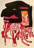 Jim Harris: Enceladus Probe. (Jim Harris: Artist.) Tags: art space contemporaryart contemporáneo cosmology probe saatchi arte abstractart red black lartabstrait dessin avantgarde bostonmuseumschoolofart japan tokyo