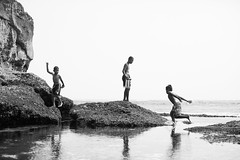 kids playing at the beach.. (paul.wienerroither) Tags: bali indonesia travel kids play playing travelphotography photography canon 50mm 5dmk3 beach water ocean oceanlove sea people blackandwhite blackwhite bw reflection dreambeach lembongan beautiful