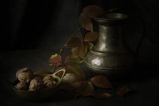 Autumn Still Life with Walnuts