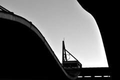 Railway station (Eleni Maitou) Tags: streetphotography street station blackandwhite blackwhite urban architecture lines curves layers nikon nikond90 outdoor athens monochrome minimal railwaystation