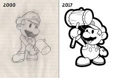 Inktober Day 8 - Paper Mario (jamesartville) Tags: jamesartville inktober2017 inktober17 nintendo nintendofanart fanart supermario mariofanart inktober papermario mario