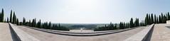 panorama dalla scalinata di redipuglia.