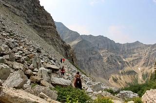Passing the hiker on subalpine