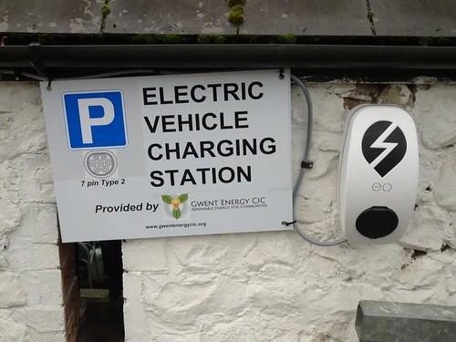 Electric Vehicle Charging Point, The Secret Garden, A4042, Mamhilad, Pontypool 16 October 2017