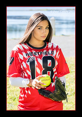 Cierra - Softball (Peter Camyre) Tags: peter camyre photography softball female player ball glove jersey westfield bombers high school teen girl lady people face senior portrait ef70200mmf28lisiiusm canoneos5dmarkiii