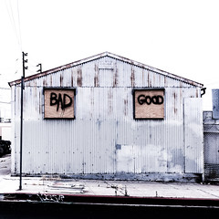 Bad Meaning Good (fe2cruz) Tags: losangeles la california socal southerncalifornia metal graffiti text bad good spraypaint industrial building square crazytuesdaytheme 7dwf